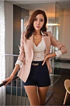 Pink Pleated Blazer