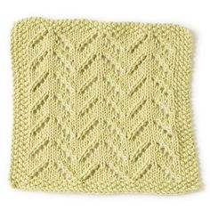 Rocky Point Beach Washcloth in Lion Brand Cotton-Ease - 90389 | Knitting Patterns | LoveKnitting