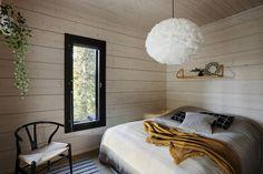 Finnlamelli Log Homes Home Living, Log Homes, Bean Bag Chair, Lounge, Couch, Bedroom, Furniture, Design, Home Decor