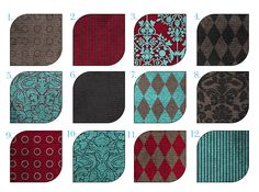Decorating with Teal and Burgundy | Gray, grey, charcoal gray, teal, dark teal, peacock, burgundy, maroon ...
