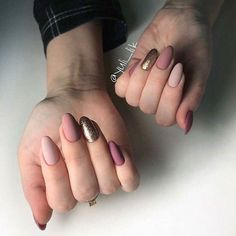 Berry colored nails