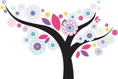 Wall decals Flower tree Nursery wall decal by wallinspired