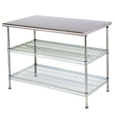 Classic french style hardwood butcher block top metal kitchen stainless steel work table food prep 30 x 72 with 2 chrome wire undershelf workwithnaturefo