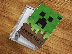 Minecraft inspired cover design Boy can finally get organised in style with 2016 ID Diaries!