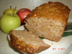 This recipe for Apple Harvest Quick Bread is a moist fall favorite - and a great way to use up a surplus of apples! Freezer-friendly and lowfat!