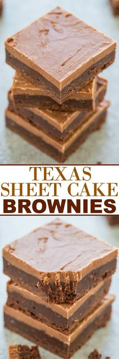 Texas Sheet Cake Brownies Dessert Recipe via Averie Cooks - Easy, FUDGY, no mixer brownies that are rich, chocolaty and decadent!! The classic Texas sheet cake frosting makes them totally IRRESISTIBLE!! The Best EASY Sheet Cakes Recipes - Simple and Quick Party Crowds Desserts for Holidays, Special Occasions and Family Celebrations #sheetcakerecipes #sheetcake #sheetcakes #cakerecipes #cakes #dessertforacrowd #partydesserts #christmasdesserts #thanksgivingdesserts #newyearseve…