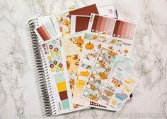 Fall Harvest sticker kit - Erin Condren vertical - Happy Planner - weekly sticker Kit - fall - autumn - fall foliage by PrettyEasyPlanning 14.90 EUR It contains of a variety of stickers so you can embrace your creativity: functional stickers headers half boxes stackable sidebar full boxes washi full box checklists activity stickers In total you will receive the seven sticker sheets as shown. You can also choose between matte paper or glossy vinyl the washi sheet is also printed in the same…