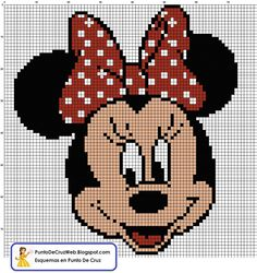 Cross Stitch *<3* Minnie Punto de cruz
