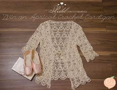 Apricot Crochet Cardigan Giveaway