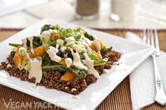 Steamed Veggies with Quinoa & Sesame Ginger Dressing by Yack_Attack, via Flickr