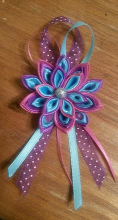 Kanzashi fabric satin flower