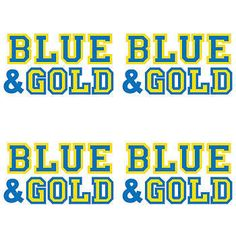 Our Blue and Gold Temporary Tattoos feature the words BLUE and GOLD in two-tone colors blue and gold! Each Blue and Gold Tattoo measures approximately 1 inch x 1 inch.