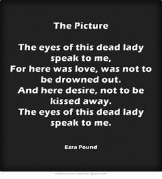 The Picture by Ezra Pound