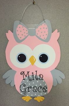Baby Owl/It's a Girl/It's a Boy/Personalized by LnLWoodworks
