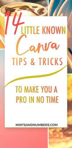 14 little known Canva tips and tricks that you probably didn't know about. These tips and tricks will make you a Pro in no time! |Canva design ideas| Canva Tutorials| #graphicdesigntips #canvatipsandtricks #canvadesigns (scheduled via http://www.tailwindapp.com?utm_source=pinterest&utm_medium=twpin)