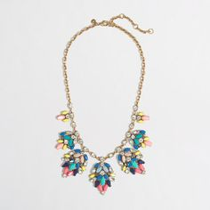 J.Crew+Factory+-+Factory+stone+leaf+clusters+necklace
