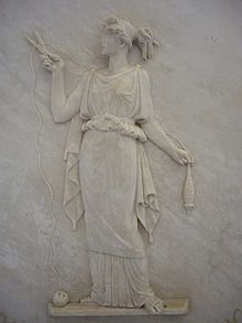 the fates greek mythology | Bas relief of Atropos cutting the thread of life