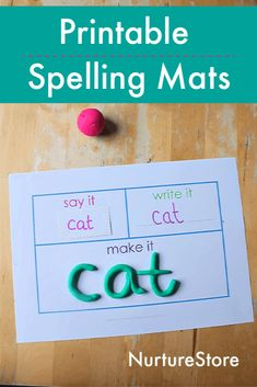 Printable play dough mats for spelling practice – NurtureStore Printable play dough mats for spelling practice, playdough spelling activities Spelling Practice, Spelling Activities, Spelling Words, Spelling Ideas, Playdough Activities, Creative Activities, Activities For Kids, Crafts For Kids, Kids