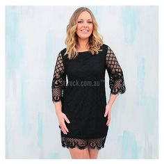 Lace is having a moment! Get this stylish 'Meant To Be Lace Dress in Black' for $59.90 over at shop.stfrock.com.au #stfrock #lace #dress #lbd
