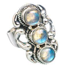 Labradorite 925 Sterling Silver Ring Size 8.75 RING769500