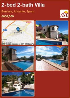 2-bed 2-bath Villa in Benissa, Alicante, Spain ►€650,000 #PropertyForSaleInSpain