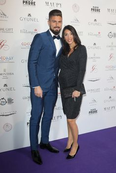 Jennifer Giroud Photos - Olivier and Jennifer Giroud attend The Global Gift Gala London held at Corinthia Hotel London on November 2017 in London, England. - The Global Gift Gala London - Red Carpet Arrivals Football Hairstyles, Prom Suit, Rosewood Hotel, Bollywood Actress, Maui, Dressing, Hipster, Actresses, Mens Fashion