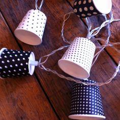 Gobelets décorés avec de jolis papiers pour illuminer ma terrasse ...  SISI bricole.