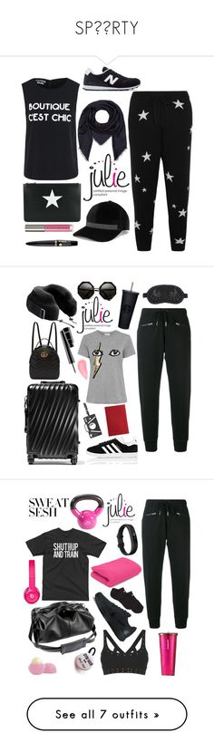 """SP⚫️RTY"" by juliedebbas ❤ liked on Polyvore featuring Boutique Moschino, Givenchy, Chinti and Parker, Chantecaille, Bourjois, New Balance, Brunello Cucinelli, Gucci, Longchamp and Karl Lagerfeld"