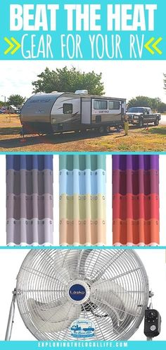 RVing this summer? Make sure you keep your RV cool with these simple and practical tips! Find out what gear you need to stay comfortable while RVing in the heat. Ductless Ac Unit, Rv Homes, Rv Organization, Beat The Heat, Rv Parks, Rv Travel, Rv Life, Amazing Adventures, Rv Living