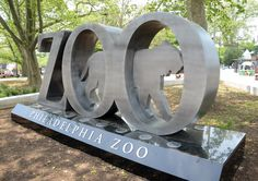 Is the new Philadelphia Zoo monument a sign, a statue, or sculpture?