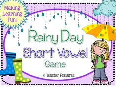 "This game is fast-paced and a top request!   - 142 Short Vowel word cards   - 10 ""Lucky Rainbow"" cards This game focuses on short vowel sounds increasing the odds that your students will master the skill through repetition, familiarity AND enjoy it at the same time!  (There are trickier words for your higher level learners, too.)"