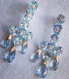 "Blue topaz and diamond ""girandole"" earrings. #bliss #princedimitri #bluetopaz #aqua #girandole #earings #diamond #hashtagfashion #photooftheday #instaphoto #chic #glam #fabulous #uberchicbeauty #elegant #fff #tagsforlikes #instafollow #followback #jewelry #accessories"
