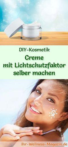 Gesichtscreme selber machen: So können Sie eine Creme mit Lichtschutzfaktor selber machen, probieren Sie das folgende Rezept mit Anleitung ...