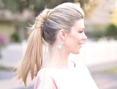 Pretty fab pony tail tutorial:  http://www.lovemaegan.com/2012/02/hair-tutorial-pretty-ponytail-twist.html?utm_source=feedburner&utm;_medium=email&utm;_campaign=Feed%3A+ThisIsMyLifeloveMaegan+%28This+is+My+Life+...love+Maegan%29