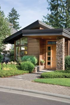 Superb Unique Small House Plans Small Modern House Plans Home Designs Small Contemporary House Plans, Unique House Plans, Small Modern Home, Modern House Design, Contemporary Design, Modern House Exteriors, Contemporary Home Exteriors, Modern Porch, Contemporary Building