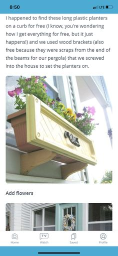 Chicken Barn, Plastic Planters, Wood Brackets, Beams, Pergola, Outdoor Decor, Home Decor, Decoration Home, Room Decor