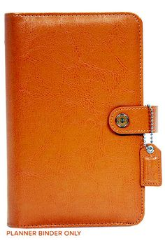Websters Pages - Color Crush Collection - Personal Planner Binder - Caramel
