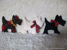 Dinkelkissen Wärmekissen Hund aus Baumwolle Unikat