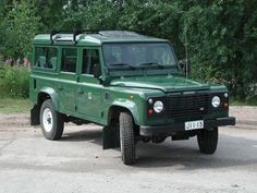 Land Rover Defender. Green, please.