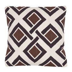 White, Black & Brown Tessa Amagansett Pillow