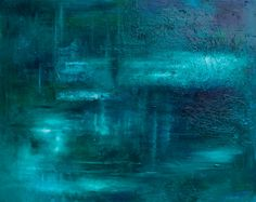 Large Emerald Painting Original oil by RomanySteelePainting, $750.00