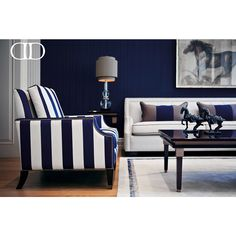The Perfect Setting: Contrasting bold blue and light neutral colors make the…