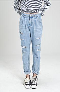 Best How To Wear Boyfriend Jeans With Converse Striped Shirts Ideas Moda Fashion, Cute Fashion, Fashion Outfits, Womens Fashion, Mode Style, Style Me, Style Blog, Estilo Indie, All Jeans