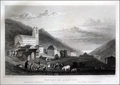 Swiss - Convent of Disentis - Kloster Disentis Graphic         : Steel Engraving / Stahlstich from              : Tombleson Upper Rhine Size Picture  : 12 x 17 cm   Year              : + 1830 Del                : Tombleson Sculp            : H.Winkles
