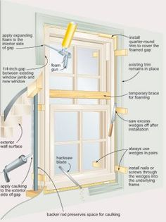 "Your Own Windows - DIY ""Install Your Own Windows"" Reduce the cost of new windows by putting them in yourself.""Install Your Own Windows"" Reduce the cost of new windows by putting them in yourself. Remodeling Mobile Homes, Home Remodeling, Home Renovation, Home Improvement Projects, Home Projects, Home Fix, Diy Home Repair, House Windows, Diy Windows"