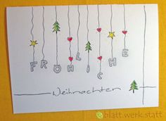 ** Theme: Fairy Lights High quality folding card with individually to your desires ., handlettering ** Theme: Fairy Lights High quality folding card with individually to your desires . Diy Christmas Cards, Noel Christmas, Xmas Cards, Winter Christmas, Diy Cards, Christmas Crafts, Cactus Wall Art, Cactus Print, Xmas Lights