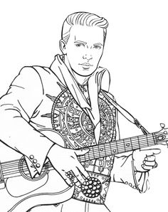 16 Best Elvis coloring pages... images in 2020 | Coloring ...