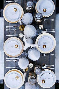 table de noel blanc