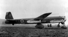 Junkers Ju 287 -experimental 4 seat bomber powerplant six BMW.003 turbojets speed 348mph at 20,000ft with 8,808lb of bombs-range 1040miles -ceiling 35,400ft 3 aircraft were build and the V2 flew in russia with swept back wings in the begining of 1948 and is reported to have attained a speed of 621mph(1000 km/hr)