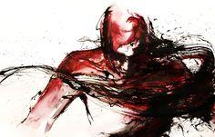 traumatic memories by agnes-cecile on DeviantArt Silvia Pelissero, Dark Art Paintings, Agnes Cecile, Portraits, Watercolor Artwork, Cool Drawings, Sketchbook Drawings, Art Google, Traditional Art